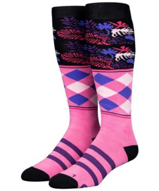 Stinky Socks Tropic Snowboard Socks - Pink / Purple