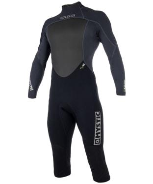 Men's Mystic Brand Longarm Shortleg 3/2mm Back-zip Flatlock Wetsuit - Black