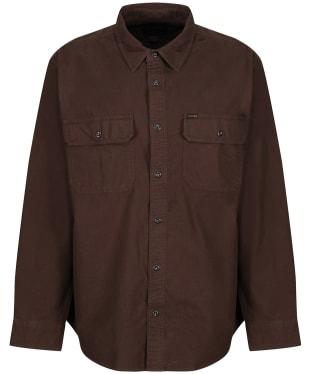 Men's Filson Field Flannel Shirt - CIGAR BROWN