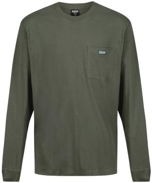 Men's Filson L/S Ranger Solid One Pocket T-Shirt - Service Green