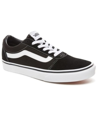 Men's Vans Ward Suede/Canvas Skate Shoes - Black / White