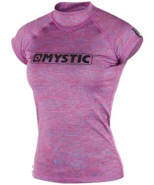 Women's Mystic Star Short Sleeve Rash Vest - Pink Marl
