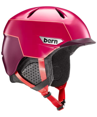 Bern Weston Peak Helmet - Satin Cranberry Pink