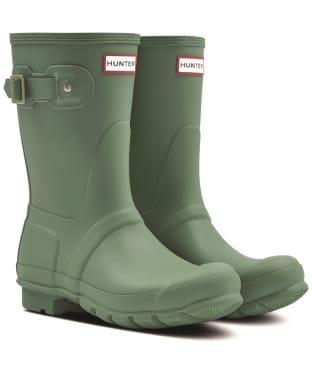 Women's Hunter Original Short Wellington Boots - Sage Skipper