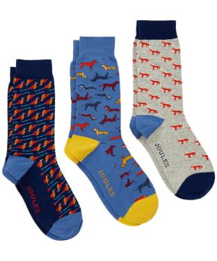 Men's Joules Striking Socks – 3 pack - Multi Animal