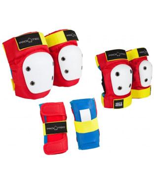 Pro-Tec Junior Skate Retro Protection 3-pack - Multi