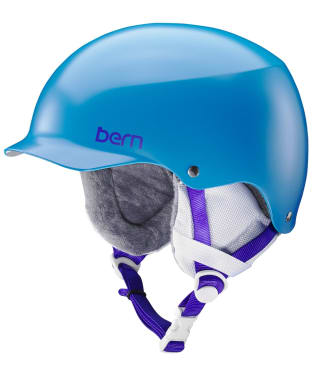 Women's Bern Team Muse Helmet - Satin Ocean Blue