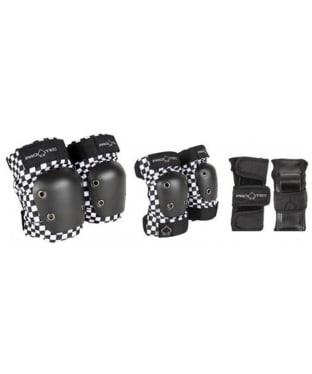Junior Pro-Tec Skate 3-Pack Protection Pack - Black / White