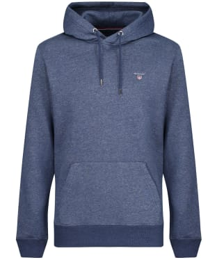 Men's GANT Original Sweater Hoodie - Dark Jeansblue Melange
