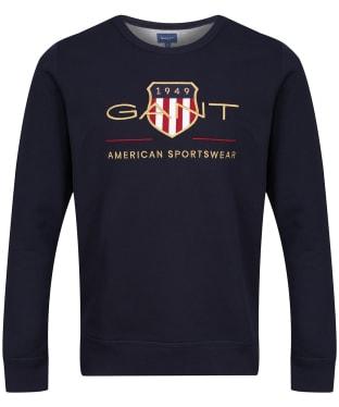 Men's GANT Archive Crew Neck Sweatshirt - Evening Blue