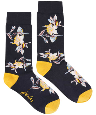 Joules Brilliant Bamboo Socks - Navy Floral