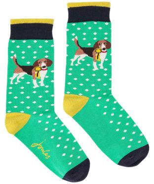 Joules Brilliant Bamboo Socks - Green Dog