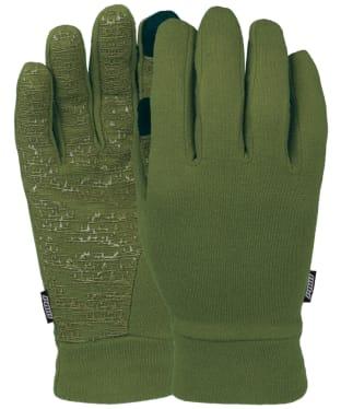 Men's Pow Snowboard Ski Poly-Pro Glove Liners - Green