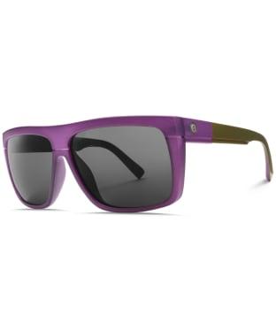 Electric Black Top Sunglasses - Purple Resin