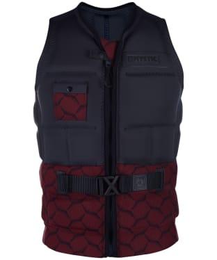Men's Mystic Supreme Front Zip Impact Wake Vest - Dark Red