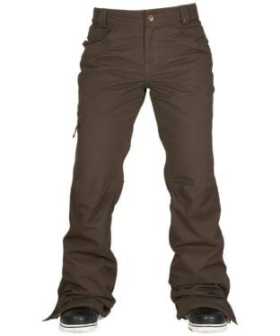 Women's 686 Authentic Patron Snowboard Pants - Coffee