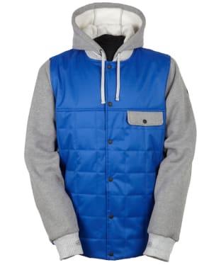 Men's 686 Parklan Bedwin Snowboard Jacket - Cobalt / Heather Grey