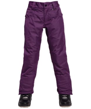 Girl's 686 Elsa Insulated Snowboard Pants - Mulberry Melang