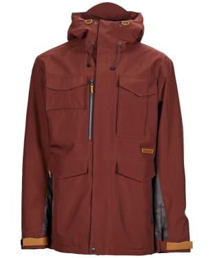 Men's Sessions Ransack Insulated Snowboard Jacket - Maroon/Dark Camo