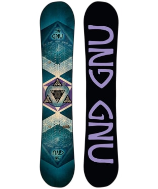 Women's GNU Asym Pro Choice Snowboard - Turquoise