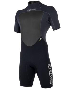Men's Mystic Brand Shorty 3/2mm Back-Zip Flatlock Wetsuit - Black