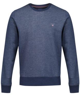 Men's GANT Crew Neck Sweater - Dark Jeansblue Melange