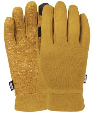 Men's Pow Snowboard Ski Poly-Pro Glove Liners - Gold