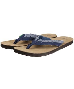 Men's Sanuk Dr Fray Flip Flops - Slate Blue