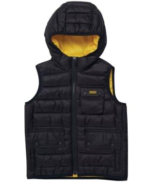 Boy's Barbour International Ouston Hooded Gilet - 6-9yrs - Black