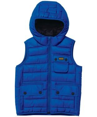 Boy's Barbour International Ouston Hooded Gilet - 6-9yrs - Cobalt Blue