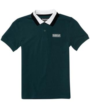 Boy's Barbour International Ampere Polo Shirt - 10-14yrs - Benzine Green