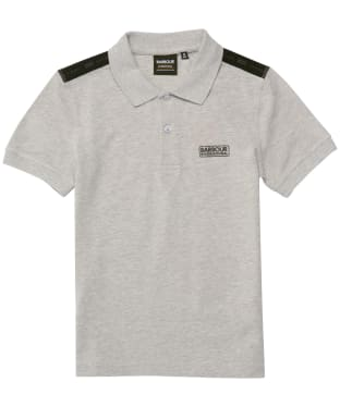 Boy's Barbour International Tape Polo Shirt - 10-14yrs - Grey Marl