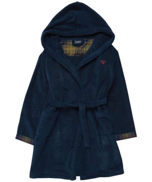 Boy's Barbour Lucas Dressing Gown - 6-9yrs - Navy