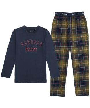 Boy's Barbour Leo PJ Set - 6-9yrs - Classic Tartan