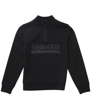 Boy's Barbour International Halt Half Zip Sweat - 6-9yrs - Black