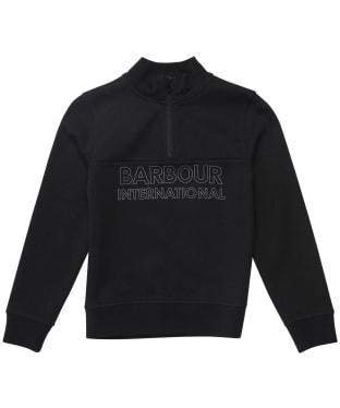 Boy's Barbour International Halt Half Zip Sweat - 10-14yrs - Black
