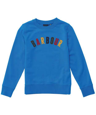 Boy's Barbour Oliver Crew Sweater - 6-9yrs - Frost Blue