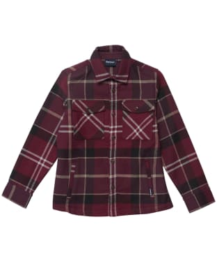 Boy's Barbour Tartan Overshirt - 6-9yrs - Winter Red Tartan