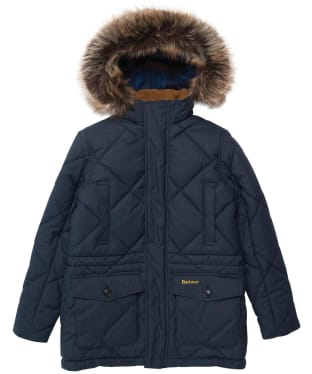 Boy's Barbour Holburn Quilted Jacket - 6-9yrs - Navy