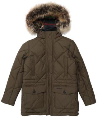 Boy's Barbour Holburn Quilted Jacket - 6-9yrs - Olive