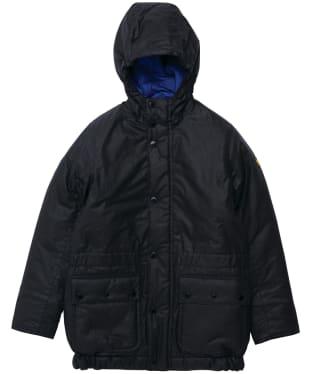Boy's Barbour International Terrance Winter Waxed Jacket - 6-9yrs - Black