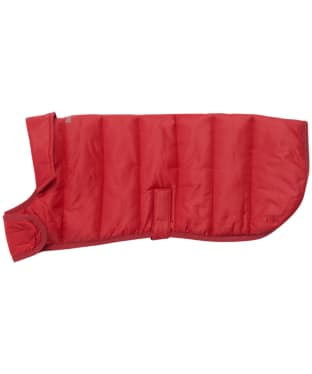 Barbour Baffle Quilt Dog Coat - Brick Red