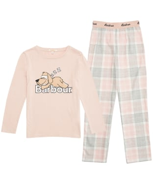 Girl's Barbour Olivia PJ Set - 10-14yrs - Pink Tartan