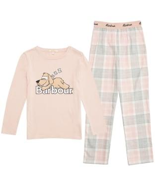 Girl's Barbour Olivia PJ Set - 6-9yrs - Pink Tartan