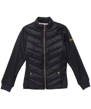 Girl's Barbour International Everly Sweat Jacket - 6-9yrs - Black