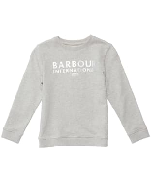 Girl's Barbour International Clypse Overlayer - 6-9yrs - Pale Grey Marl
