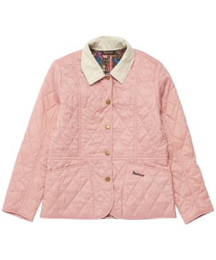 Girl's Barbour Printed Summer Liddesdale Quilted Jacket – 6-9yrs - Pink / Fuchsia Secret