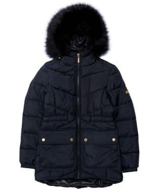 Girl's Barbour International Tampere Quilted Jacket - 6-9yrs - Black