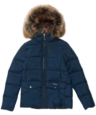 Girl's Barbour Bayside Quilted Jacket - 6-9yrs - Navy