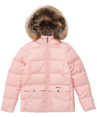 Girl's Barbour Bayside Quilted Jacket - 6-9yrs - Secret Pink